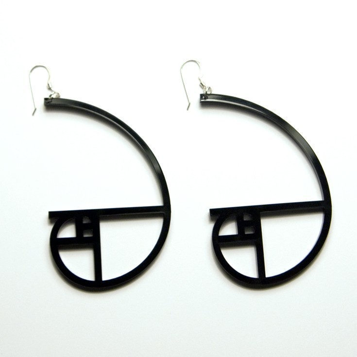 golden spiral earings
