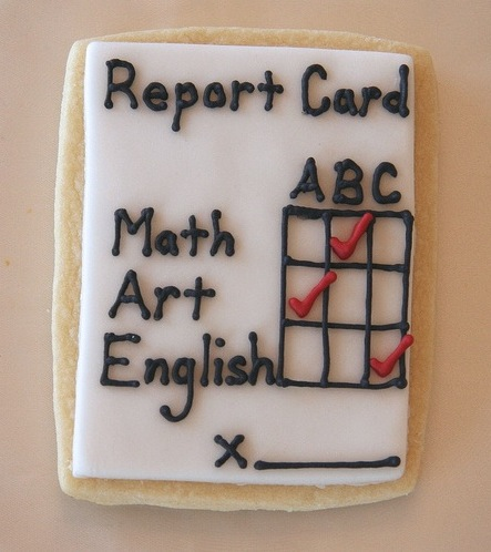 report card cookie