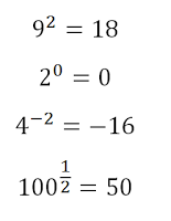 exponent mistakes